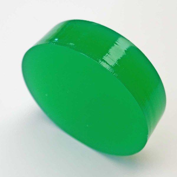 Restposten | Kreisscheibe aus Acrylglas grün Ø  68 mm | Stärke 19 mm