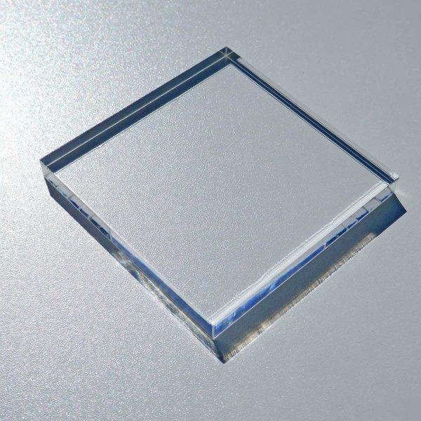 Restposten   Acryl-Block 100  x 100 mm - 10 mm Stärke