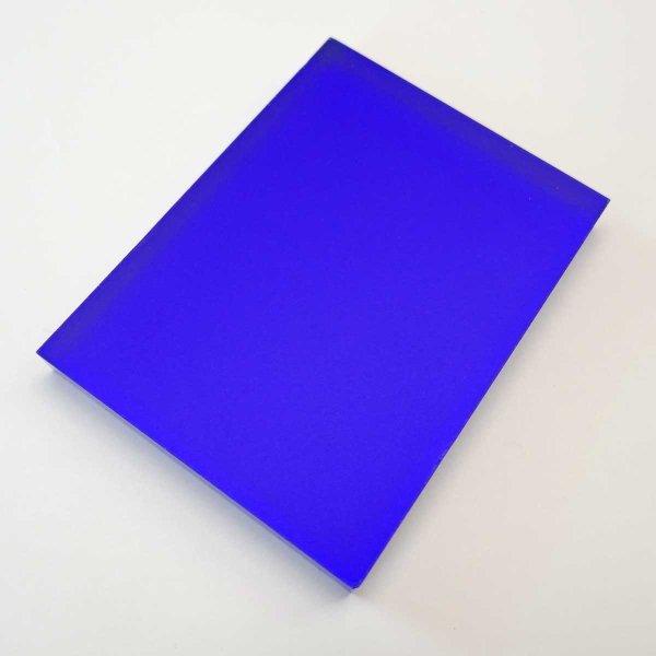 Restposten | Acryl-Block 75 x 100 mm - blau - 10 mm Stärke