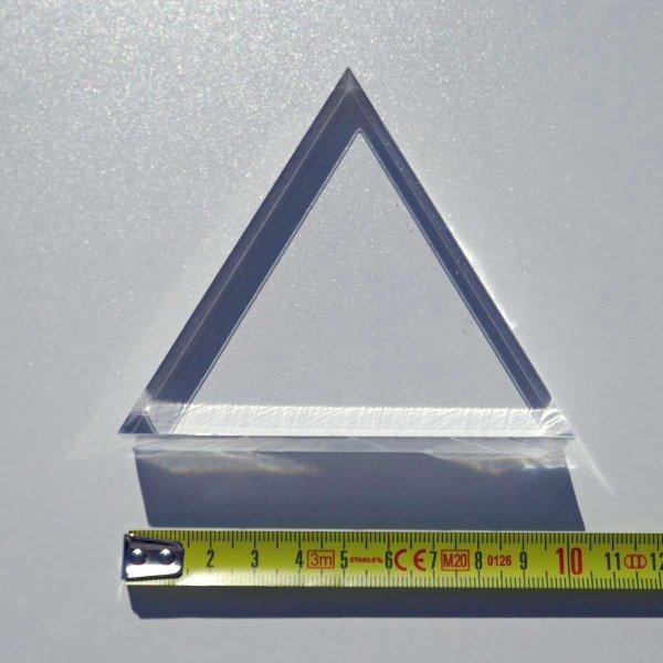 Restposten   Acryl-Dreieck 100 mm - 15  mm Stärke
