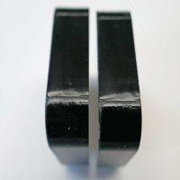 Restposten   Rechteck-Zuschnitt 53 x 53 mm - 12 mm Stärke - schwarz