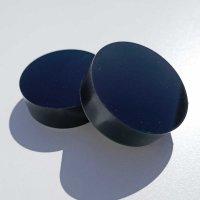 Restposten | Kreisscheibe aus Acrylglas schwarz Ø  60 mm | Stärke 20 mm