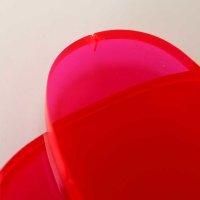 Restposten | Oval ca. 59 x 33 mm | 6 mm Stärke | rot