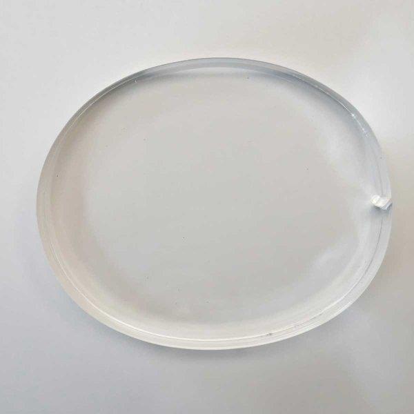 Restposten | Oval ca. 110 x  91 mm | 20 mm Stärke | farblos