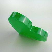 """Herz   """"Sandwich"""" aus klarem und grünem Acrylglas   88 mm"""