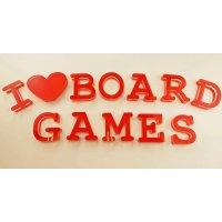 "I love BOARDGAMES | Schriftzug | ""Sandwich"" aus..."