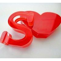 """I love BOARDGAMES   Schriftzug   """"Sandwich"""" aus klarem und rotem Acrylglas   75 mm hoch"""