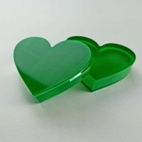 """Herz   """"Sandwich"""" aus klarem und grünem Acrylglas   63 mm"""