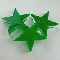 "Stern | fünfzackig | ""Sandwich"" aus klarem und grünem Acrylglas | 70 mm"