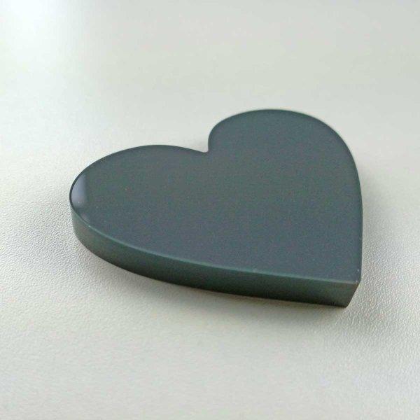 Herz | aus grauem Acrylglas | 63 mm breit