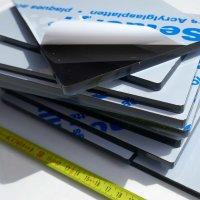 Restposten   Acrylglas 2.5 kg - gelaserte Anschnitte rauchbraun-transparent 8 mm