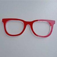 """Brille - stilisiert   drei verschiedene Farben, """"Sandwich""""-Material   ca. 266 mm lang"""