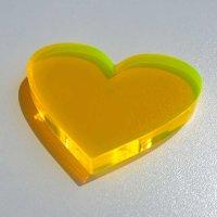 Herz | aus LISA gelb-orange Acrylglas fluoreszierend |...