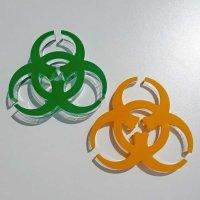 Biohazard-Symbol | Deko passend zum Brettspiel...
