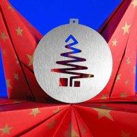 Tannenbaumschmuck aus Edelstahl   Weihnachtsbaum stilisiert