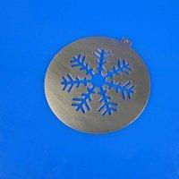 Tannenbaumschmuck aus Edelstahl   Schneeflocke - stilisiert
