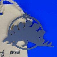 Tannenbaumschmuck aus Edelstahl | Dinosaurier