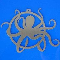 Tannenbaumschmuck aus Edelstahl | Kraken