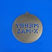 Tannenbaumschmuck aus Edelstahl   MERRY X-MAS - Schriftzug